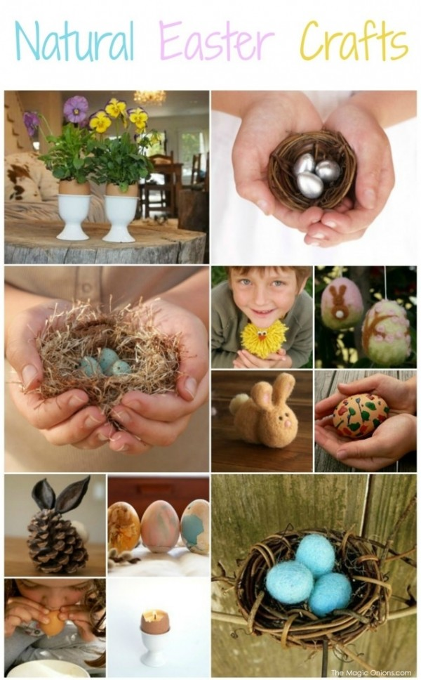 Waldorf Inspired Easter Crafts : www.theMagicOnions.com