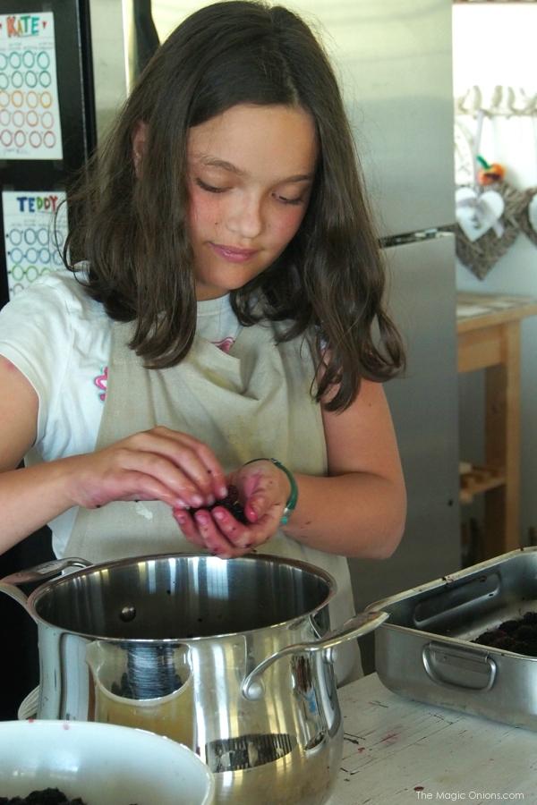 photo of making mulberry jam recipe