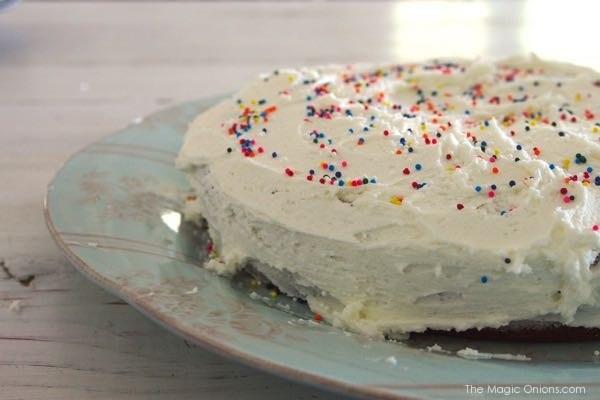cake recipe baked by a child