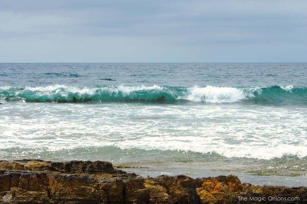 Waves at The Crystal Cove Beach photo