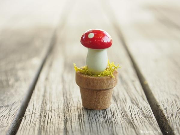 Photo of a Mini Fairy Garden Toadstool Pot Accessory