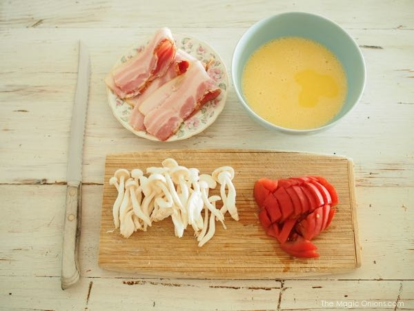 photo of our organic bacon and egg recipe
