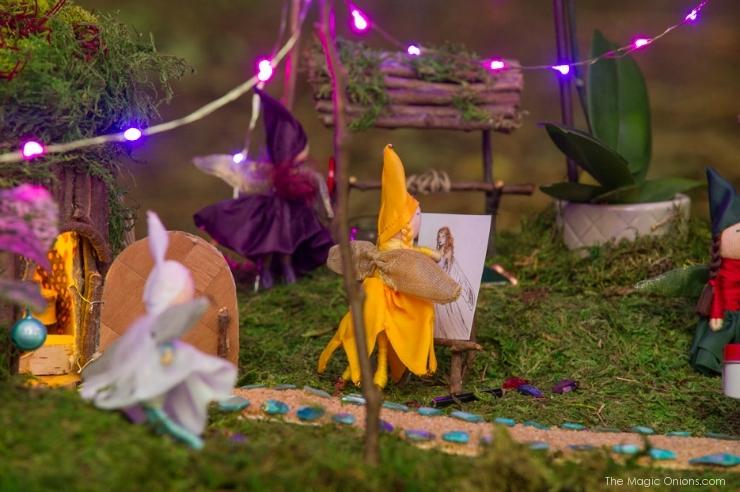 Photo of A Magical Nighttime Fairy Garden : www.FairyGardens.com