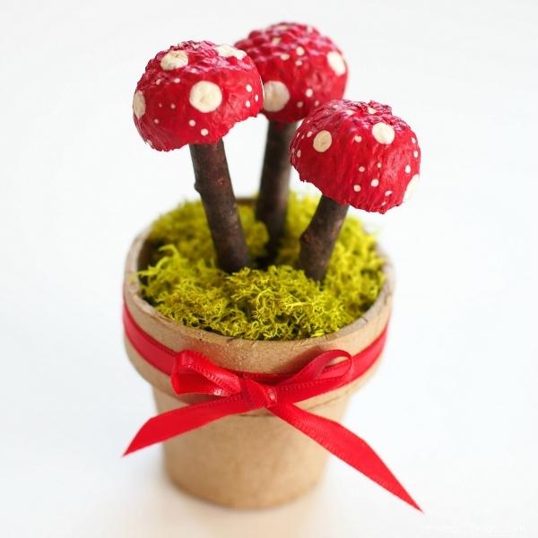 Photo fo Magic Acorn Toadstools in Autumn Magic Craft Box : www.theMagicOnions.com/shop