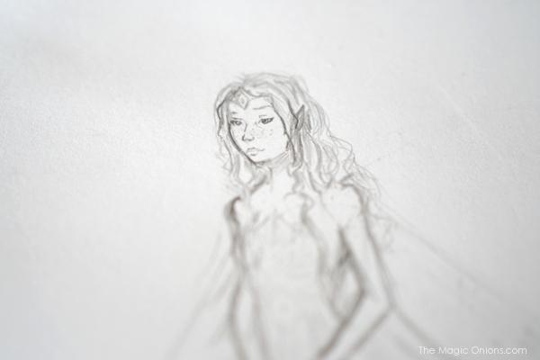 Fairy Drawing : Work In Progress - www.theMagicOnions.com