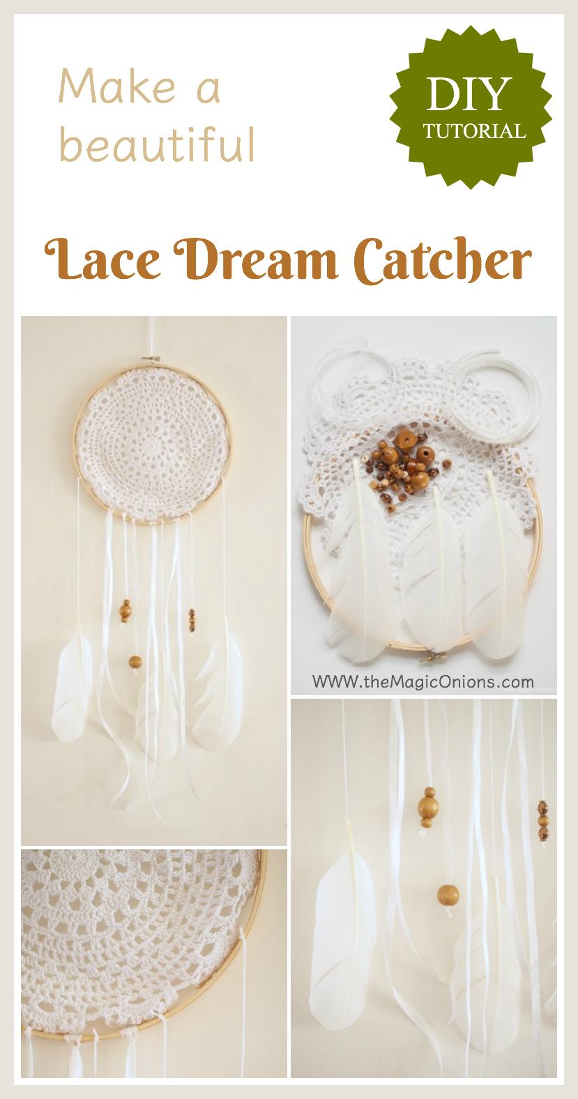 Lace Dream Catcher :: DIY Tutoiral