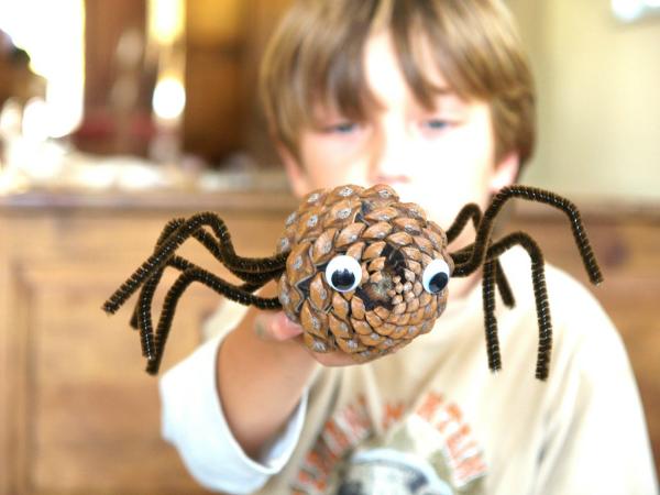 Pine Cone Spider : www.theMagicOnions.com