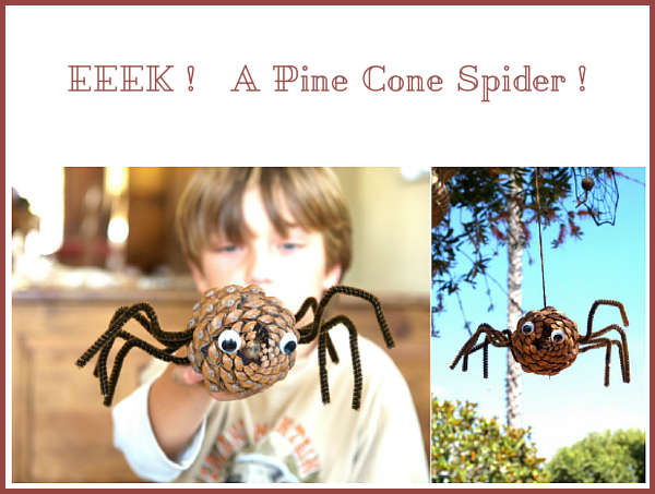 Eeek ! DIY Tutorial to make a Pine Cone Spider : www.theMagicOnions.com