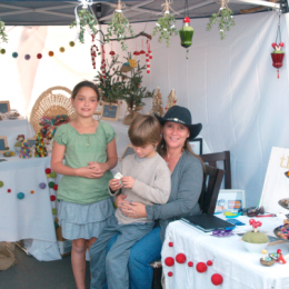 A Christmas Craft Faire for Needle Felted Ornaments