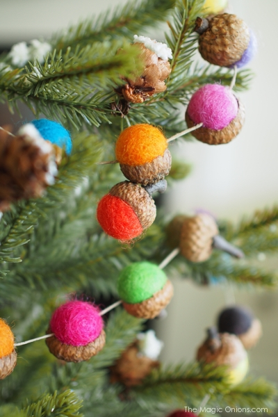 Felted Acorn Garland DIY Tutorail