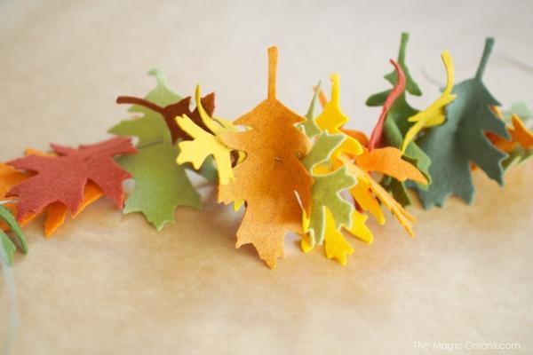 DIY :: Felt Leaf Garland Tutorial :: www.theMagicOnions.com