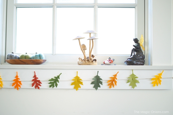 Felt Leaf Garland :: DIY Tutorial