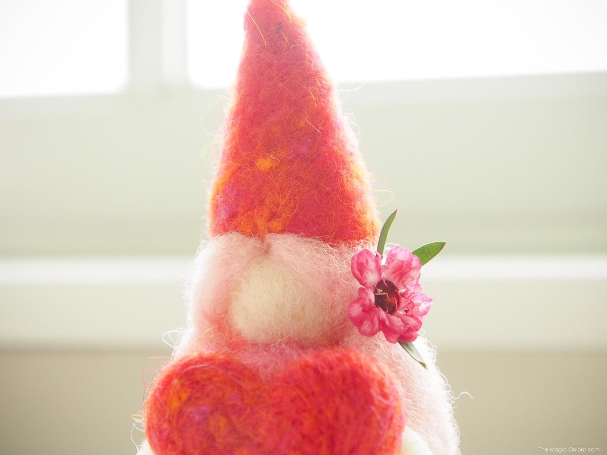 Valentine Gnome Needle Felting Tutorial :: www.theMagicOnions.com