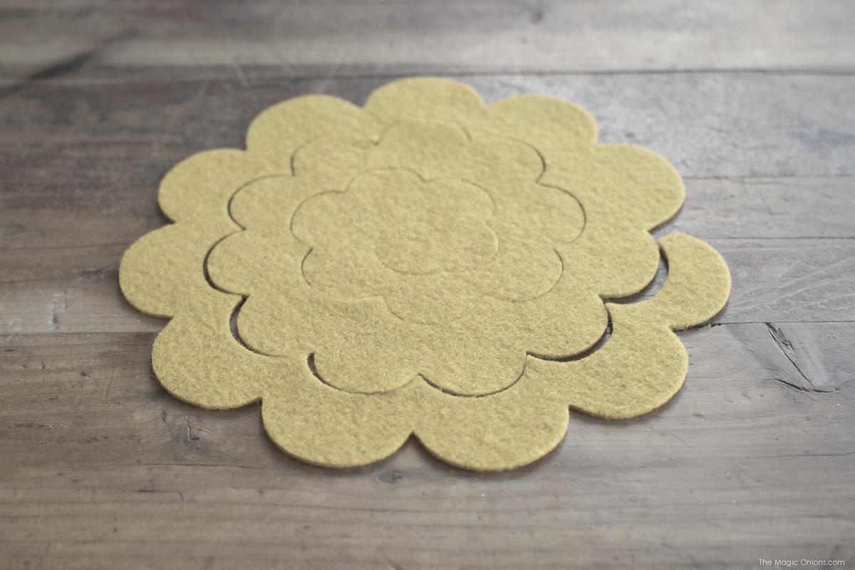 Make DIY Felt Flower Barettes for Spring with The Magic Onions Blog