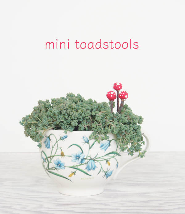 DIY Mini Toadstools for your Fairy Garden