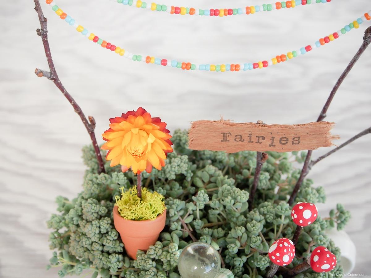 Miniature Teacup Fairy Garden :: DIY Tutorial :: www.theMagicOnions.com