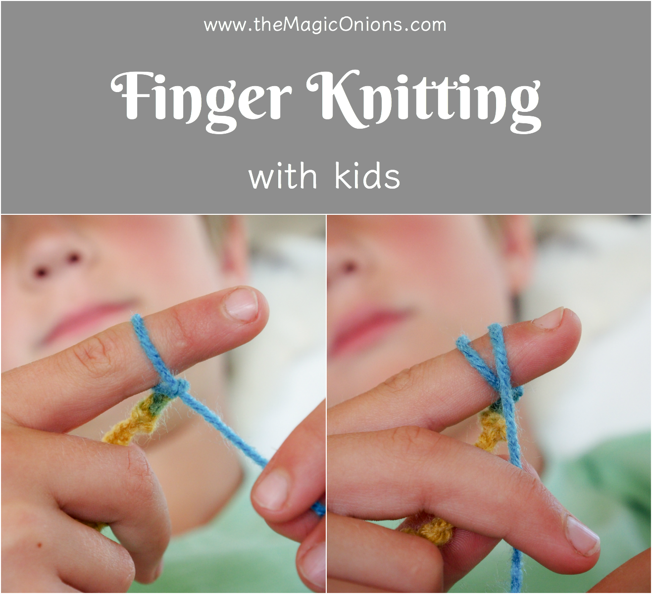 Finger Knitting For Kids : Finger knitting for kids an easy diy tutorial the