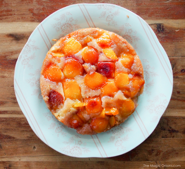 Upside-Down Peach Cake Recipe : Baking With Kids