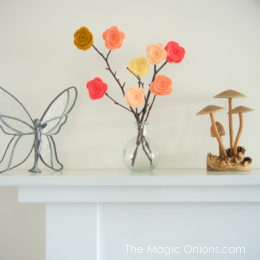Make BEAUTIFUL Felt Flowers