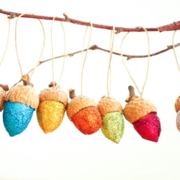 Make DIY Glittery Acorn Christmas Ornaments